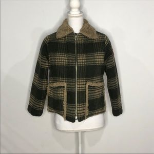 United Colors Of Benetton Size Medium Plaid Coat